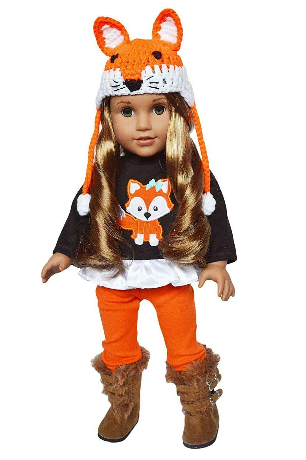 Woodland Fox Fall Outfit Fits 18 Inch American Girl Doll Clo