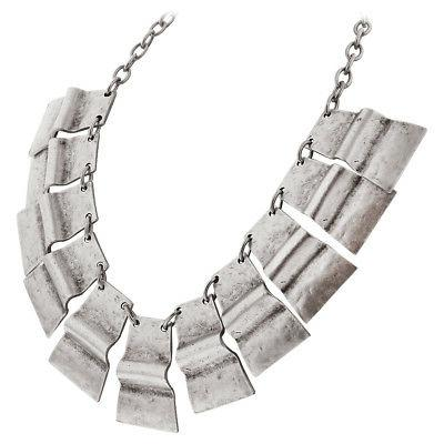Zinc Chunky Rectangular Necklace 18 inch with Extension Chai