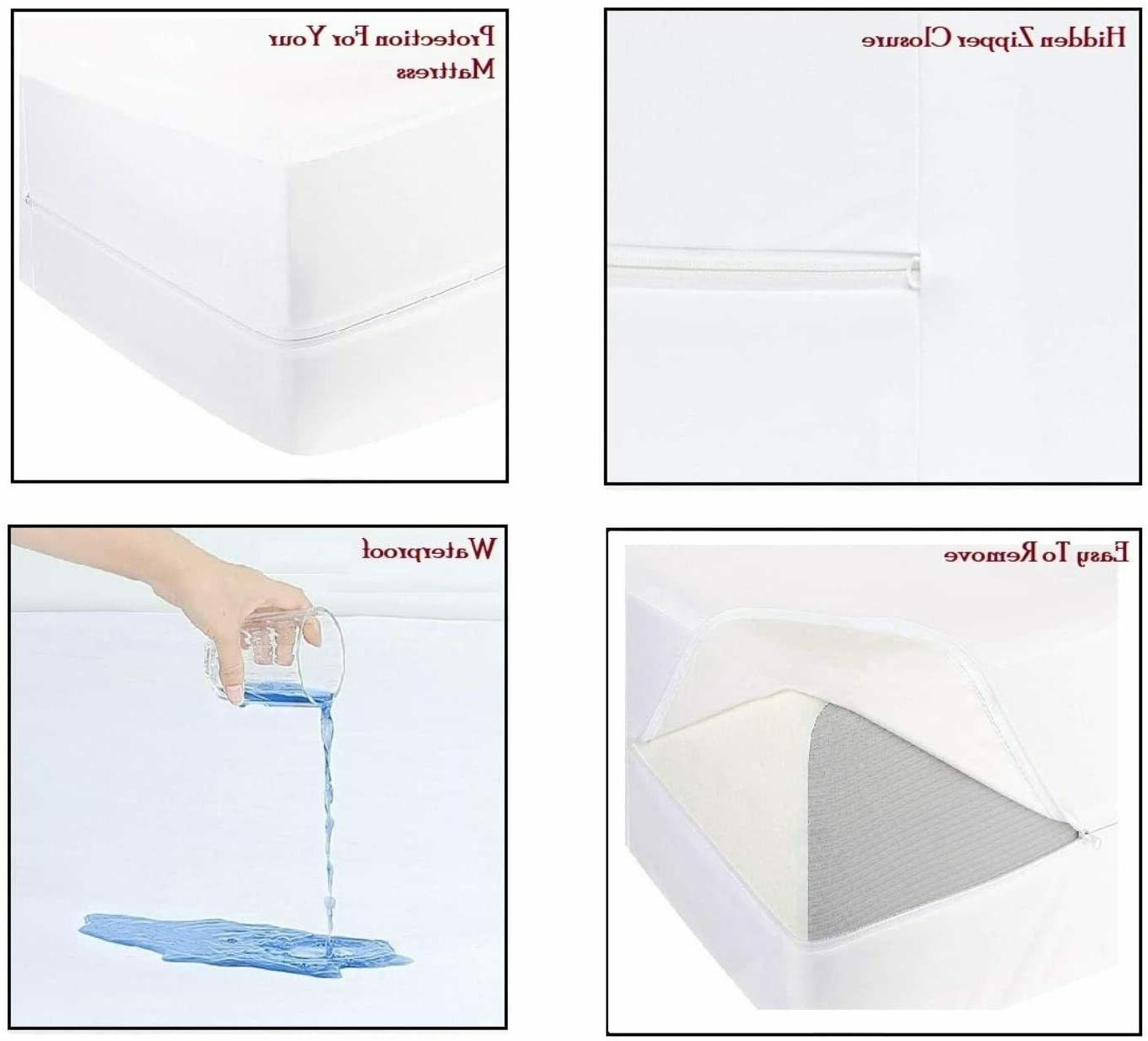Waterproof Mattress Protector Style Breathable Solid