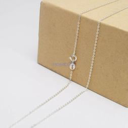 """Ladies Necklace 925 Solid Sterling Silver Curb Chain 16""""18""""2"""