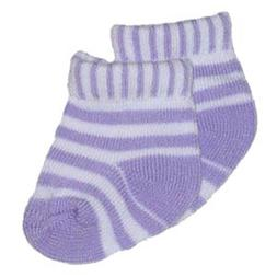 Lavender and White Striped Socks Fits 18 inch American Girl