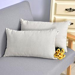 Natus Weaver Linen Lumbar Cushion Covers Throw Pillow Cases