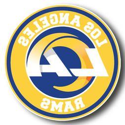 Los Angeles Rams NEW LA Circle Logo Sticker  |  Vinyl Decal