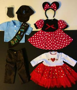 18 Inch Doll Clothes LOT, fits American Girl Minnie Mouse Ho