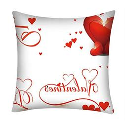 iYBUIA Love Pillows Valentine's Day Printed Sofa Car Home De