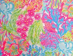 """LOVERS CORAL~ Lilly P DOBBY Cotton Fabric ~ 1/2 yard x 56"""""""