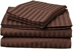 Luxury Bedding Sheet Set 4 PCs Super Soft Cotton Chocolate S