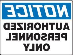 madm863vp plastic safety bigsign legend notice authorized