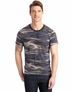 Alternative Mens Eco Crewneck T-Shirt Small S Slate Camo Cam