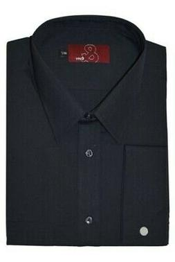 Mens Extra Tall Easy Care Poly Cotton Double Cuff Shirt