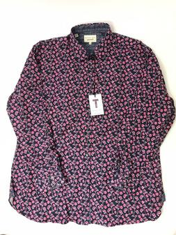 Ted Baker Mens Shirt Floral Print Red - Collar Size 18 inch