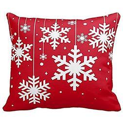 Merry Christmas Pillow Cases Cotton Linen Sofa Cushion Cover