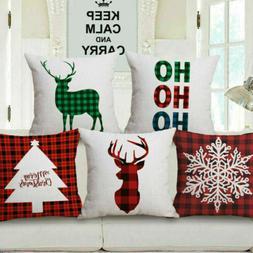 Merry Christmas Xmas Gift Designed Throw Pillow Case Cover C
