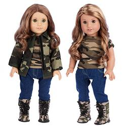 DreamWorld Collections - Military Style - Clothes Fits 18 In