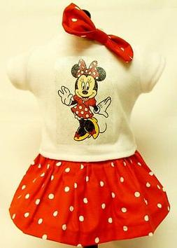Minnie Mouse Theme Outfit For 18 Inch Doll