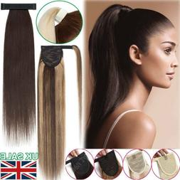 Mix Type Ponytail Real Remy Human Hair One Piece Wrap On/Aro