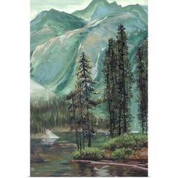 Mountainscape IV Poster Art Print, Mountain Home Decor