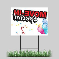 "18""x24"" Move In Special Yard Sign Storage Rental Apartment H"