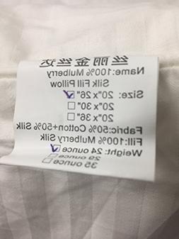 """Mulberry Silk Fill Pillow, 20""""x26"""", 24 ounce"""