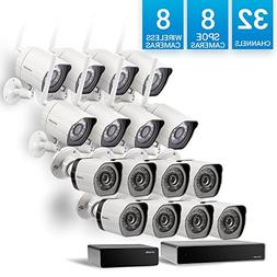 Zmodo 32 Channel NVR  8 Simplified PoE Camera + 8 Wireless C