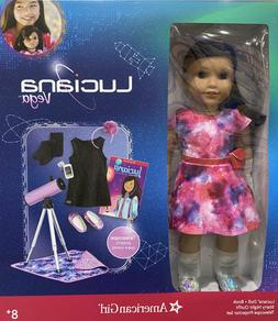 NEW American Girl 18 inch Luciana Doll Book/Telescope/Outfit