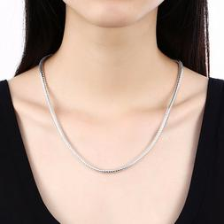 New 3mm Silver Sterling 925 Snake Chain Necklace Length 16""