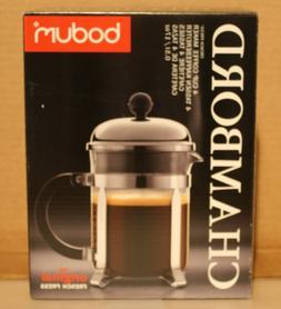 "Bodum 4-cup/17-oz Chambord French Press ""Logo'd"" Coffee Mak"