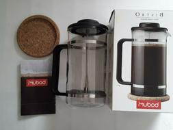 ** NEW Bodum Bistro French Press 8 Cup Coffee Maker with Cor