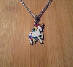 New~Unicorn Charm Chain Silver Necklace 18 Inch**~Free Shipp