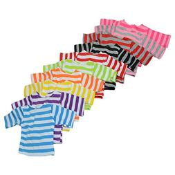 The New York Doll Collection Set of 10 Long Sleeve Striped C