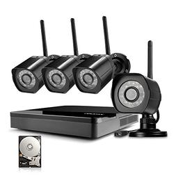 Zmodo 4 Channel NVR 720p HD Wireless Outdoor Home Video Secu