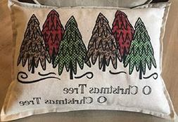 O Christmas Tree Pillow 12x18 Inch lumbar