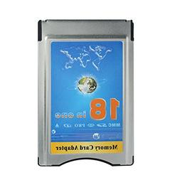 18 in One MMC SD SDHC MS PRO XD Card Reader into PCMCIA Memo