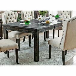 Furniture of America Oper Rustic 84-inch Dining Table with 1