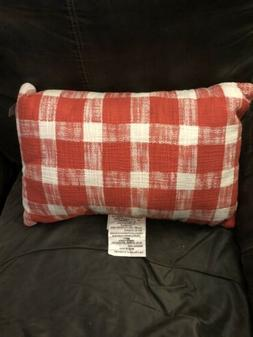 Threshold Orange Gingham Lumbar Throw Pillow 12 Inch X 18 In