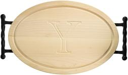 BigWood Boards Oval Cutting Board, 12-Inch by 18-Inch by 1-I