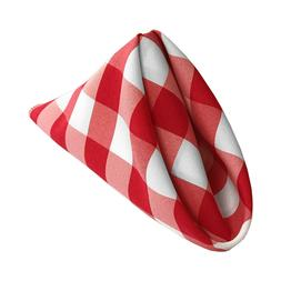 LA Linen Pack of 10 Gingham Checkered Napkins 18 by 18-Inch.