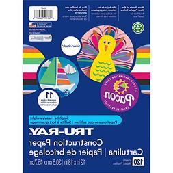 Pacon Tru-Ray Assorted Colors Smart Stack Construction Paper