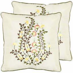 Safavieh Paisley 18-inch Ceram Decorative Pillows