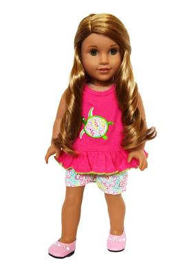 Paisley Turtle Outfit For American Girl Dolls- 18 Inch Doll