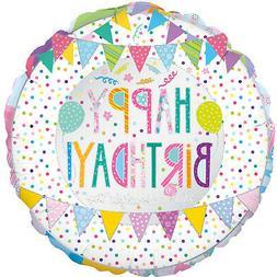 Patchwork Birthday 18 Inch Foil Balloon