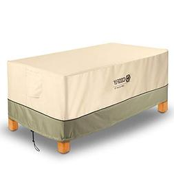 COSFLY Patio Coffee Table Cover Durable Windproof and Water