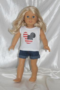 Patriotic Dress Outfit fits 18inch American Girl Doll Clothe