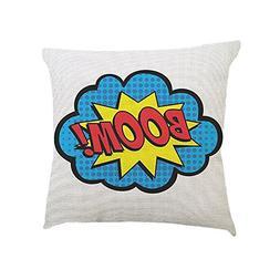 CUCUHAM Letters Pattern Cotton Linen Cushion Cover Throw Pil