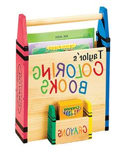 Personalized Coloring Book Caddy -Coloring Book Organizer wi