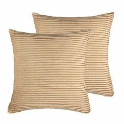 Pillow Cover Corduroy Velvet Euro Cushion Case for Bed 18 x