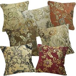 Pillow Cover*Damask Chenille Sofa Seat Pad Cushion Case Cust