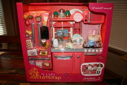NEW Our Generation PINK Gourmet Kitchen Set for 18-Inch Doll