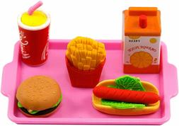 Pink Lunch Tray With 18 Inch Doll Food Fits 18 Inch American