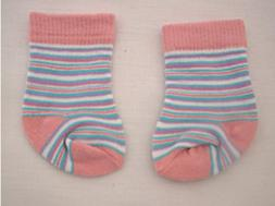 Pink Striped Socks Fits 18 inch American Girl Dolls